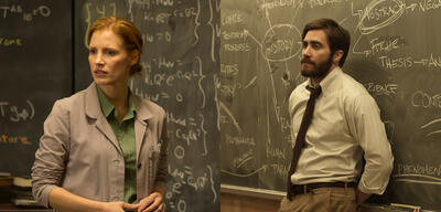 Jessica Chastain in Interstellar/Jake Gyllenhaal in Enemy