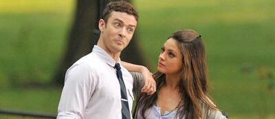 Justin Timberlake & Mila Kunis am Set von Friends with Benefits