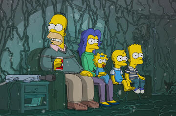 Die Simpsons trifft Stranger Things