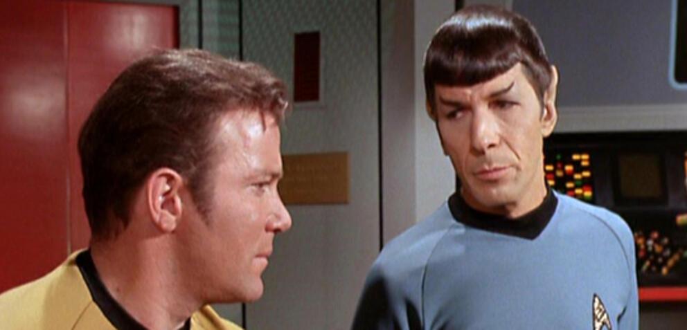 Kirk und Spock aus Star Trek