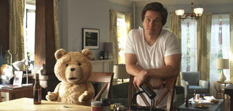 Sichtlich geknickt: Ted & Mark Wahlberg