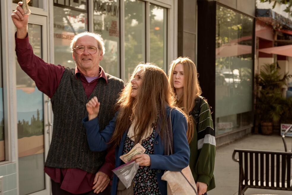 Kajillionaire mit Evan Rachel Wood, Richard Jenkins und Debra Winger