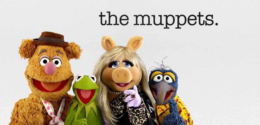 The Muppets, mit Fozzie Bär, Kermit der Frosch, Missy Piggy & Gonzo