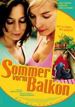Sommer vorm Balkon Poster