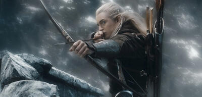 Kämpft länger:Legolas in Der Hobbit 3