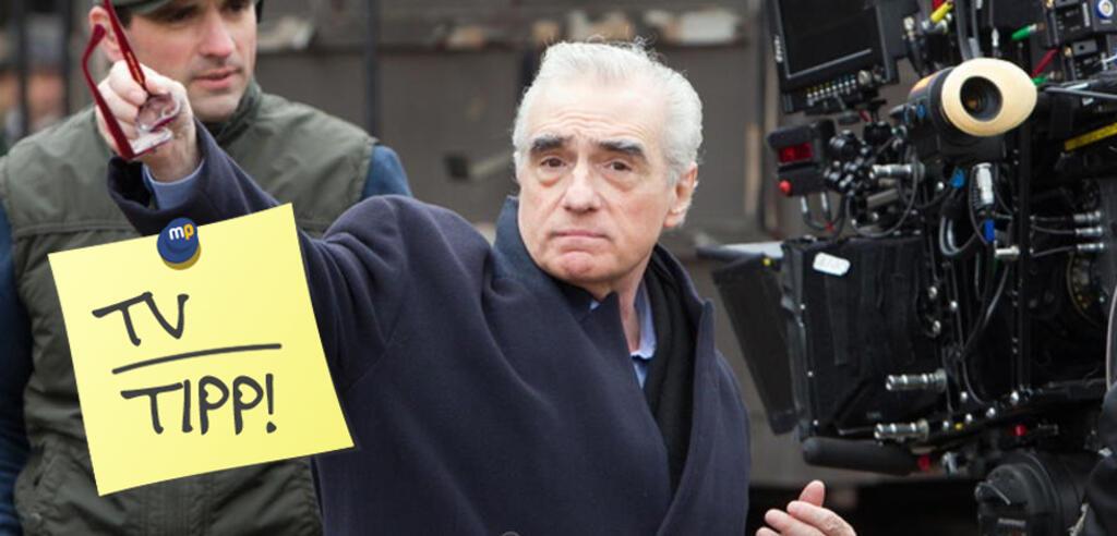 Martin Scorsese am Set von Hugo Cabret
