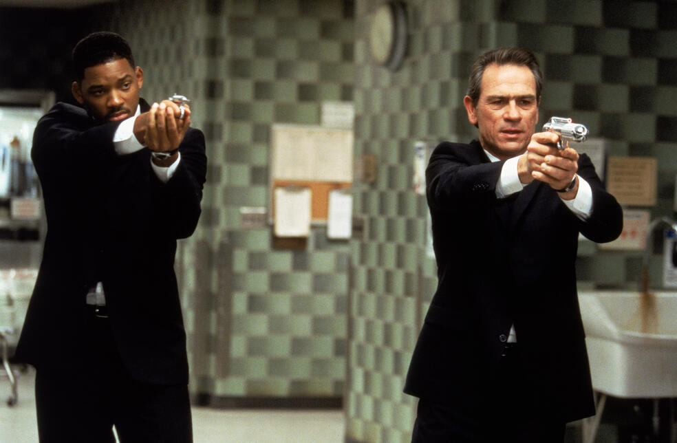 Men in Black mit Will Smith und Tommy Lee Jones