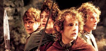 Die Herr der Ringe-Hobbits: Sam, Frodo, Pippin und Merry