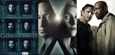Game of Thrones, X-Files, The Walking Dead