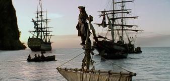 Jack Sparrow kurz vor dem Landgang