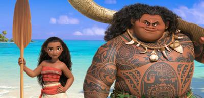 Moana und Maui