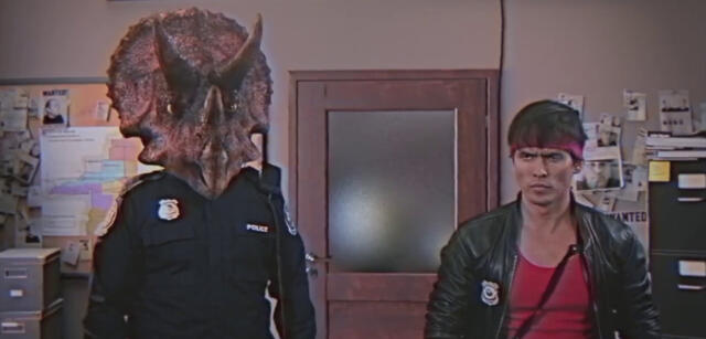 Triceracop in Kung Fury