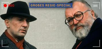 Bild zu:  Sergio Leone (rechts) mit Robert De Niro