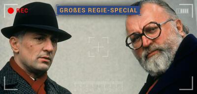 Sergio Leone (rechts) mit Robert De Niro