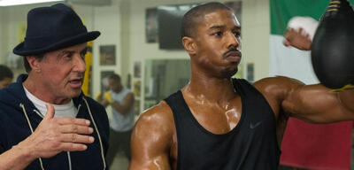 Sylvester Stallone und Michael B. Jordan in Creed - Rocky's Legacy