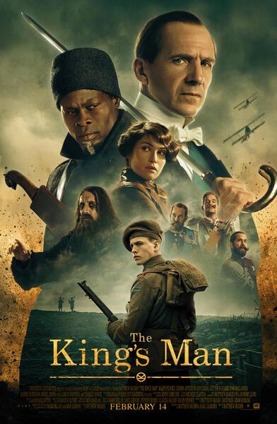 The King's Man - The Beginning mit Ralph Fiennes, Gemma Arterton, Djimon Hounsou, Rhys Ifans, Tom Hollander und Harris Dickinson