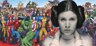 Carrie Fisher & Marvel