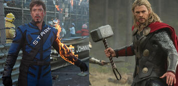 Bild zu:  Robert Downey Jr. in Iron Man 2 & Chris Hemsworth in Thor 2