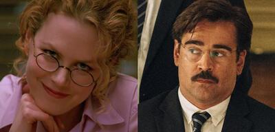 Nicole Kidman in Eyes Wide Shut/Colin Farrell in The Lobster
