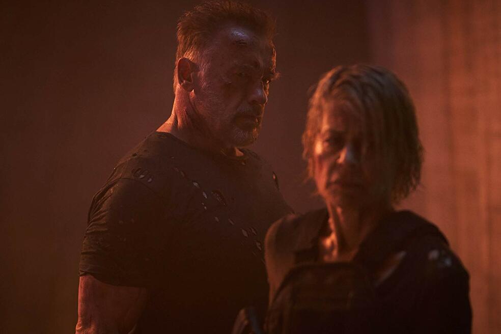 Terminator 6: Dark Fate mit Arnold Schwarzenegger und Linda Hamilton