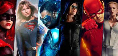Batwoman, Supergirl, Black Lightning, Green Arrow, Flash und White Canary