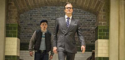 Kingsman mitTaron Egerton undColin Firth