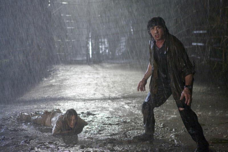 John Rambo mit Sylvester Stallone und Julie Benz
