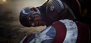 Captain Americas beschädigter Schild