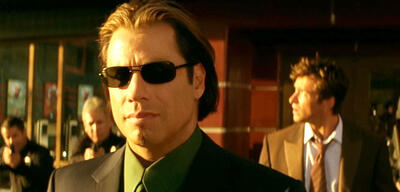 John Travolta und Hugh Jackman in Passwort: Swordfish