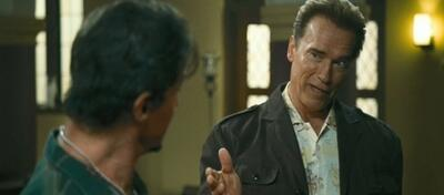 Arnie und Sly in The Expendebles