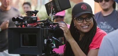 Ava DuVernay am Set von Selma