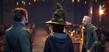 Harry Potters Sprechender Hut in Hogwarts Legacy