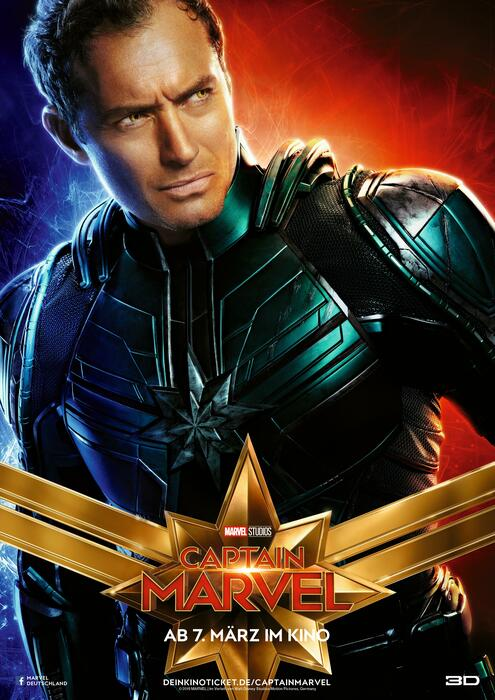 Captain Marvel mit Jude Law