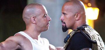 Vin Diesel und Dwayne Johnson in Fast & Furious 8