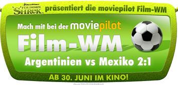 Bild zu:  Shrek präsentiert Film-WM Argentinien vs Mexiko