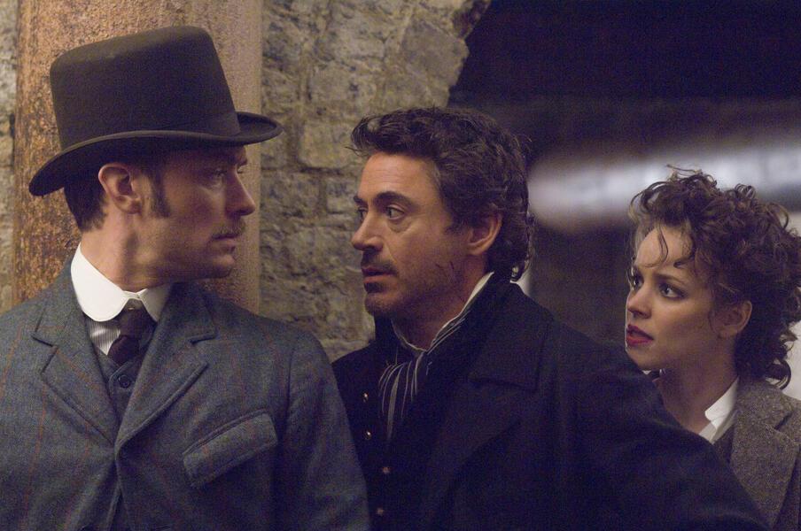 Sherlock Holmes mit Robert Downey Jr., Jude Law und Rachel McAdams