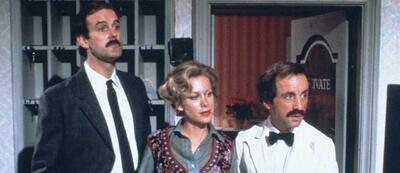 John Cleese, Connie Booth und Andrew Sachs in Fawlty Towers