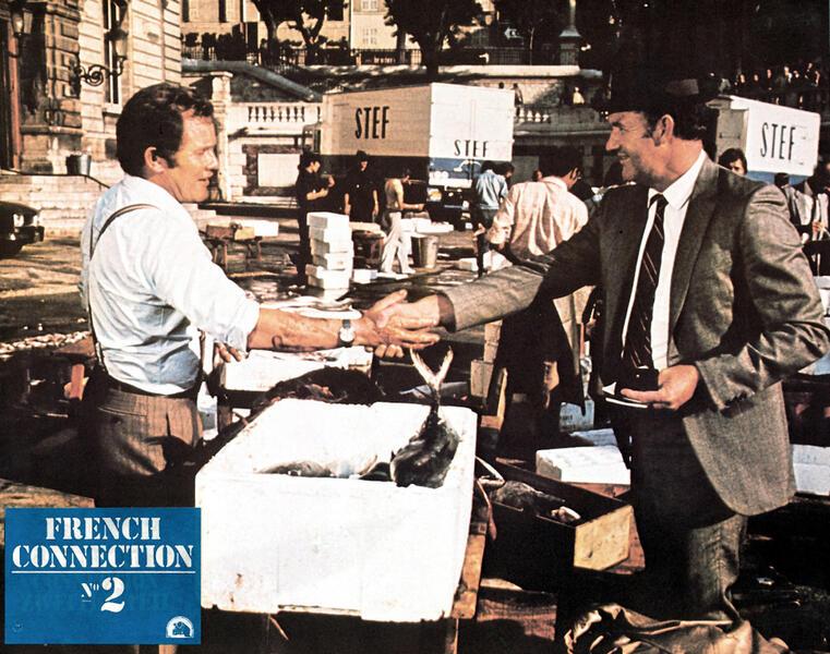 French Connection 2 mit Gene Hackman und Jean-Pierre Castaldi - Bild 1 von 3