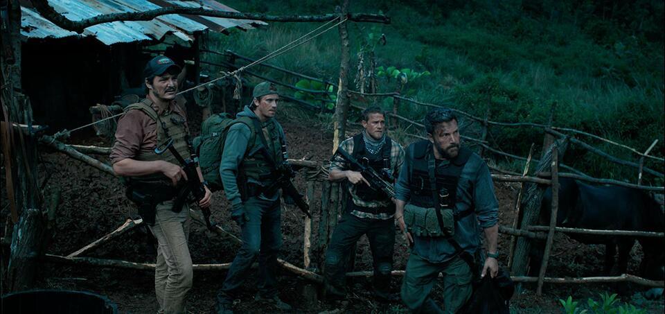 Triple Frontier mit Ben Affleck, Charlie Hunnam, Pedro Pascal und Garrett Hedlund