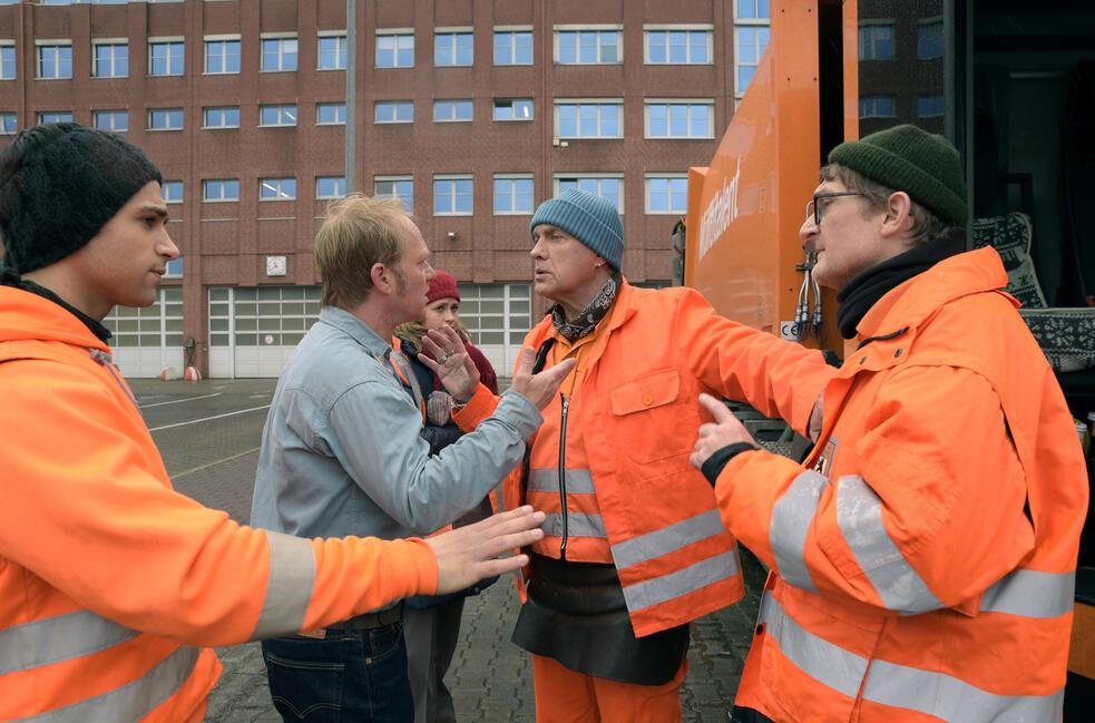 Die Drei von der Müllabfuhr - Dörte muss weg mit Uwe Ochsenknecht, Daniel Rodic, Rainer Strecker und Jörn Hentschel