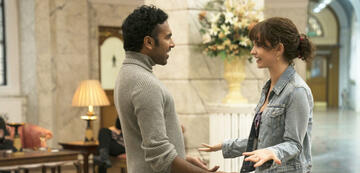 Himesh Patel und Lily James in Yesterday