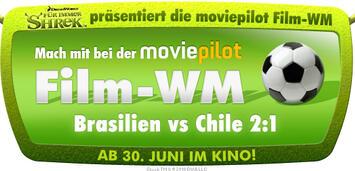 Bild zu:  Shrek präsentiert Film-WM Brasilien vs. Chile