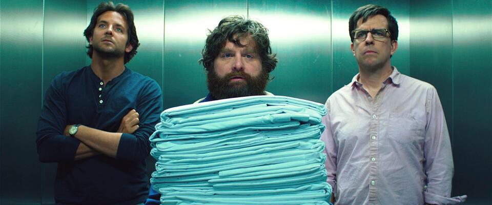 Hangover 3 mit Bradley Cooper, Zach Galifianakis und Ed Helms