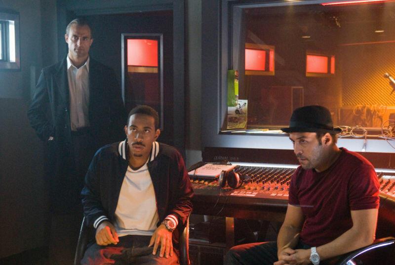 RocknRolla mit Mark Strong, Jeremy Piven und Chris 'Ludacris' Bridges