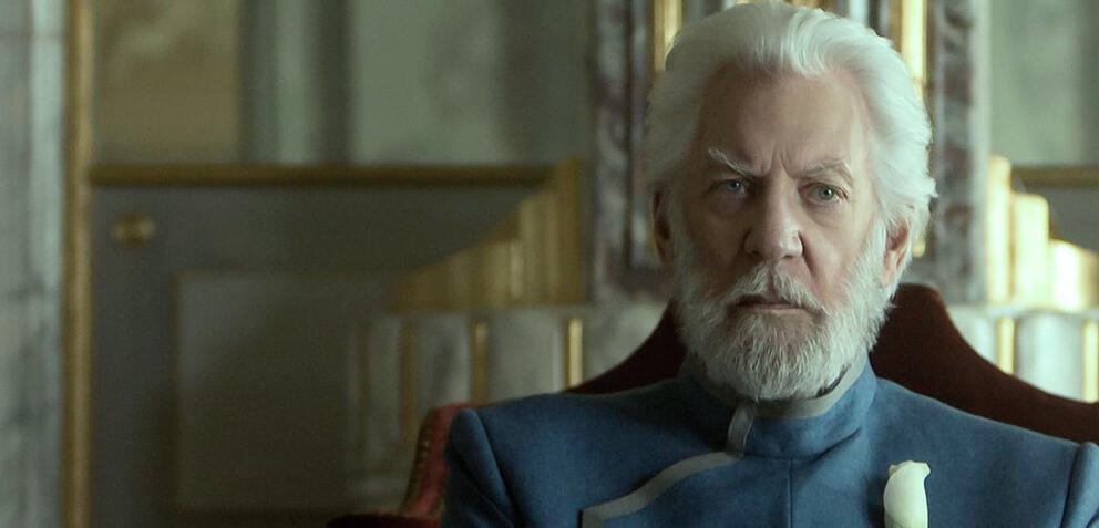 Donald Sutherland inThe Hunger Games: Mockingjay - Part 1