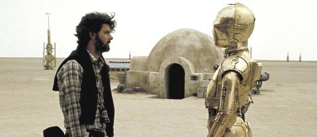 George Lucas am Set von Star Wars