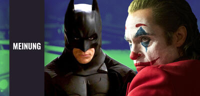 Christian Bale in Batman Begins und Joaquin Phoenix in Joker