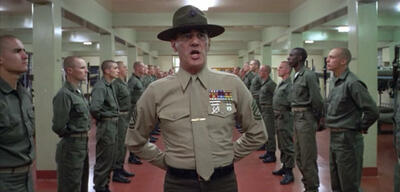 R. Lee Ermey in Full Metal Jacket