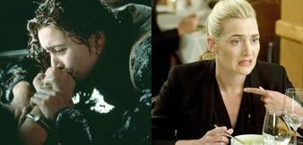 Kate Winslet in Titanic & Movie 43