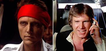 Christopher Walken in Die durch die Hölle gehen/Harrison Ford als Han Solo